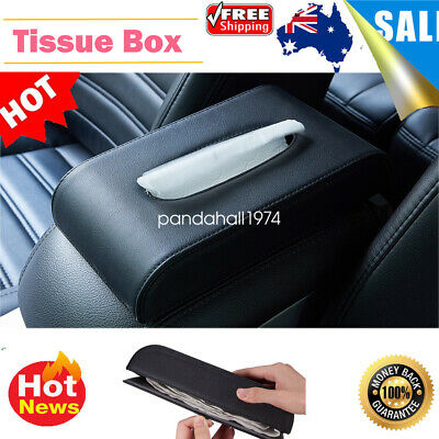 Tissue Box Cover Rectangular Holder for Home Car Office Decor Black