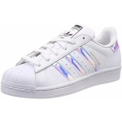 outlet store 64d90 bd6a6 ... clearance adidas originals superstar j bianco iridescente in pelle  gioventù 5760f 681bc