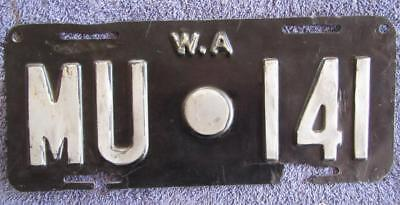 1950's MURCHISON SHIRE LICENSE/NUMBER PLATE # MU.141