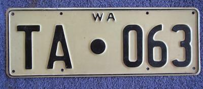 Tambellup Shire License/number Plate # Ta.063
