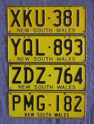 4 x NSW LICENSE/NUMBER PLATES