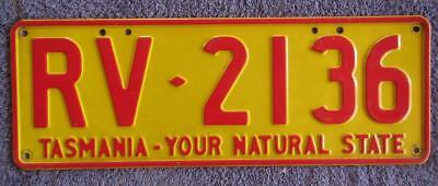 Recreational Vehicle License/number Plate # Rv-2136