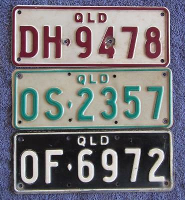 SMALL QLD TRAILER x 3 LICENSE/NUMBER PLATES