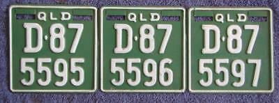 CONS Q DEALERS x 3 LICENSE/NUMBER PLATES