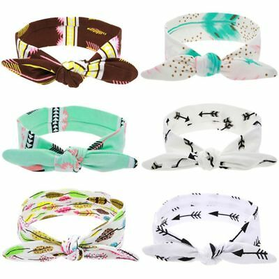 Baby Children Headband Arrow Cotton Rabbit Knot Headwear Infant Turban