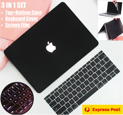 MacBook Air 13 Inch Black Rubberised Hard Case Keyboard Cover Pro 13 Inch 2019