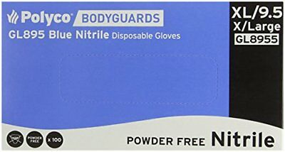Bodyguards GL895 Powder Free Blue Nitrile Disposable Gloves - Box of 100 ...