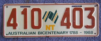 Bicentennial Nt License/number Plate # 410-403