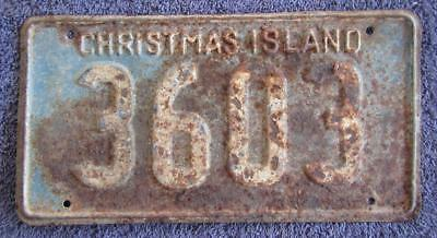 Christmas Island License/number Plate # 3603