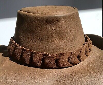 Ostrich leg Leather hat band loop Adjustable HAT EXTRA  exotic for  unique hats