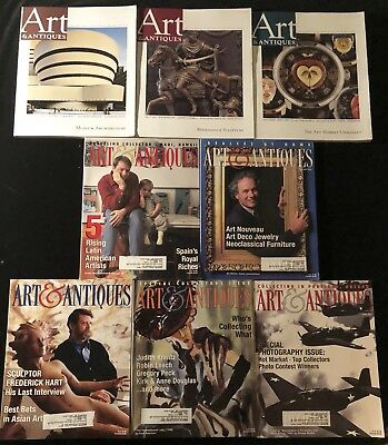 Lot of 8 Back Issues ART & ANTIQUES Magazine 1999 2000 2001 2008 Special Issue