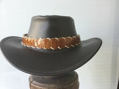 Ostrich leather  hat band Adjustable HAT EXTRA  exotic for  unique hats