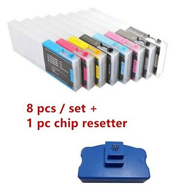 Refillable Ink Cartridge 8pcs/set 220ml for Epson Stylus Pro 4800 + 4pcs Funnels