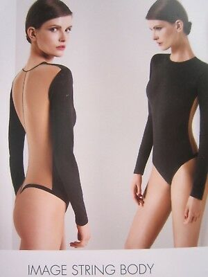WOLFORD Image String Black Black Colourway BODY BODYSUIT.Sz L.UK 16/18.