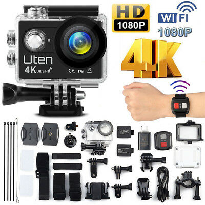 Wasserdicht 16MP Aktion Kamera Ultra Full HD 4K Wifi Sport Kamera Camcorder DE