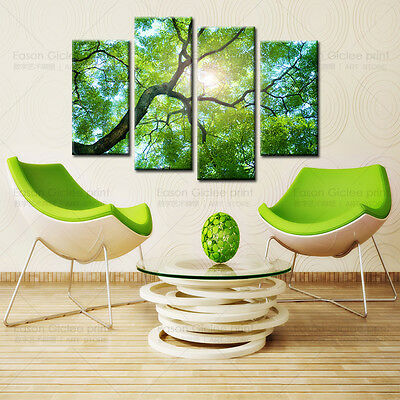 Huge Modern Abstract Art Oil Painting On Canvas For Home Decoration -Green Tree