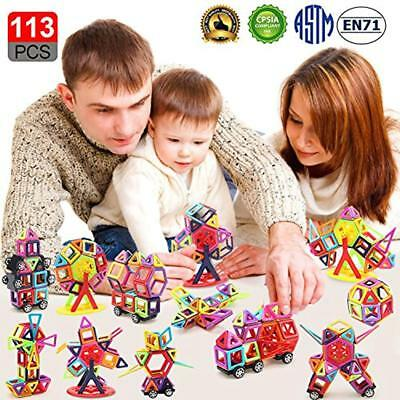 Magnetic GrownUp Toys Building Blocks For Kids113pcs 3D Building Tiles Day Toys