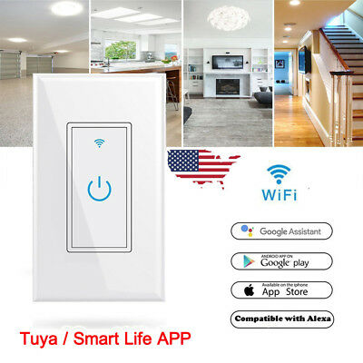 SMART WIFI LIGHT Wall Switch Works w/ Alexa Google Home IFTTT  Tuya/Smartlife App