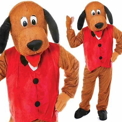 Adult Big Head Animal Mascot Dog Costume With Waistcoat Fancy Dress Puppy Outfit