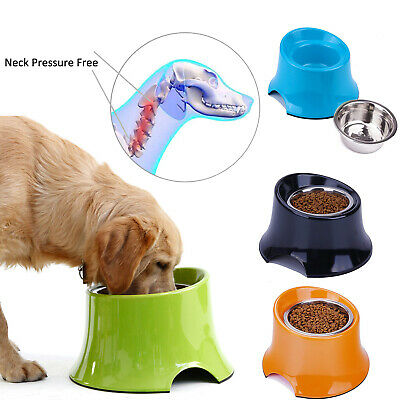 Super Design Elevated Dog Bowl Stainless Steel Raised Bowl Pet Food Water Feeder