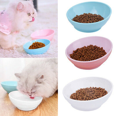 Shallow Cat Bowl Non Slip Dishes Kitten Feeder Wide Mouth Pet Puppy Feeding Bowl