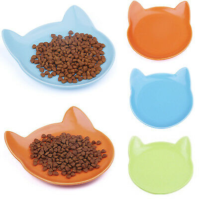 Cat Dish Food Bowl Pet Feeder Shallow and Wide Ceramics Kitten Bowls ThinkPet