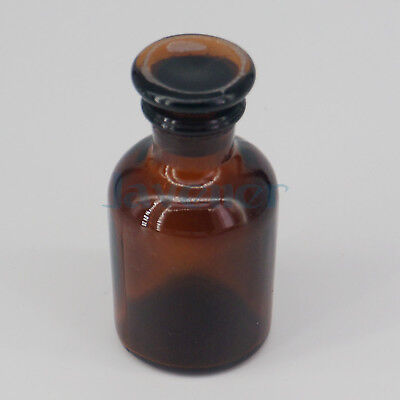 60ml Brown Glass Narrow Mouth Bottle With Stooper Lab Chemistry Glassware
