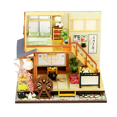 Cute DIY Wooden Miniature Japanese Style Forest Doll House Kit Birthday Gift
