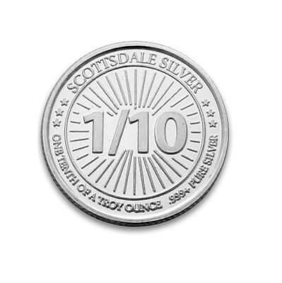 Scottsdale Silver 1/10oz .999 Silver Bullion Coin