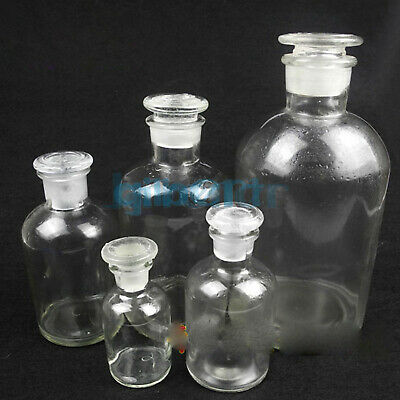 60ml 125ml 250ml 500ml 1000ml 2500ml Clear Glass NarrowMouth Bottle With Stooper