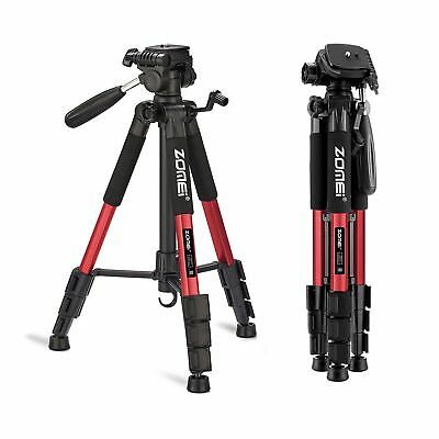 """Professional Camera Tripod Stand 55"""" Compact Folding for Canon Nikon Dslr Red"""