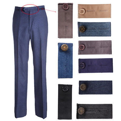 New Waist Band Pant Extender Belt Tight Trousers Jeans Maternity Button Hooks