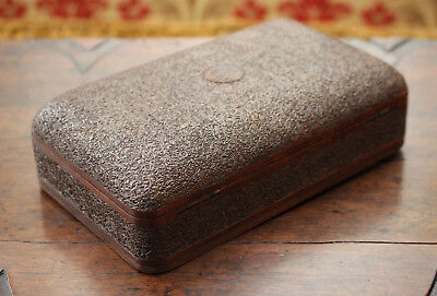 A Stunning Antique Indian Kashmir Micro Carved Box with Amazing Interior