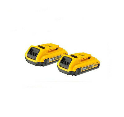 2xNEW Genuine Dewalt DCB183 18v 2.0Ah XR Li-Ion 2ah Lion Slide Battery 2000mah