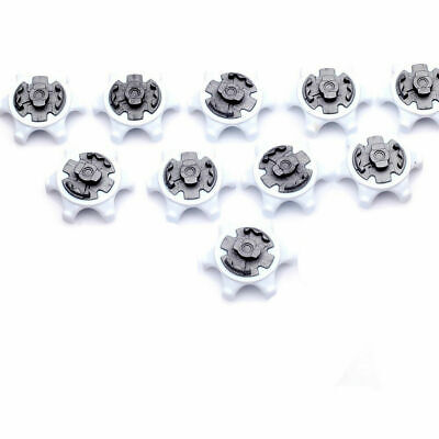10pc White Black Durable Golf Shoe Soft Spike Pins Thread Replacement for-Adida