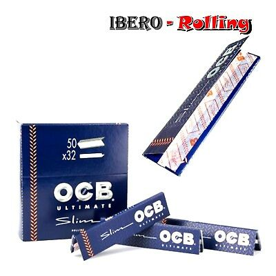 Papel de fumar OCB Ultimate Slim 50 libritos papel de liar fino tamaño king size