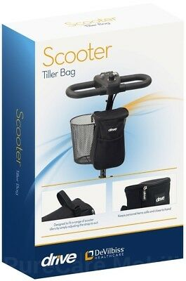Mobility Scooter Tiller Storage Security Bag Pouch Removable TGA Kymco Pride etc