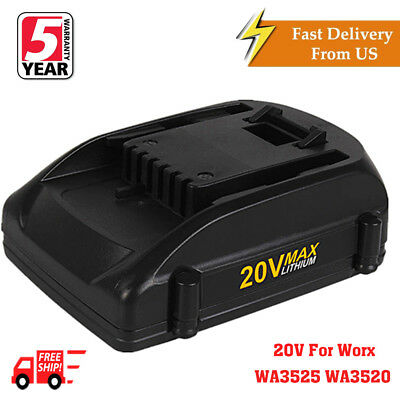 2.0Ah Li-ion 20V Max Battery for WORX WA3520 WA3525 WG251s WG155s WG163 WG255
