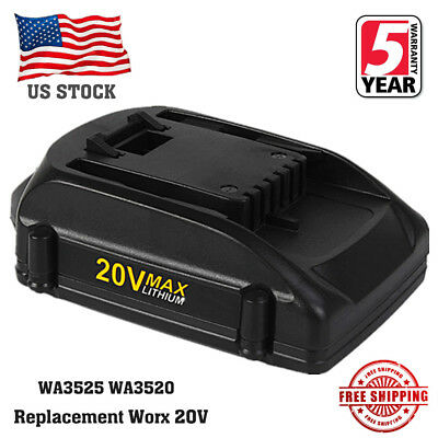 20V 2.0Ah Max Lithium Extend Battery For Worx WA3520 WA3525 WG151 WG155 WG163 US