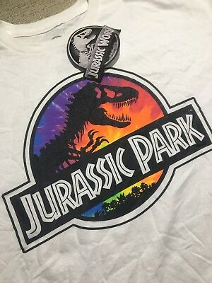 RARE Jurassic Park T-Rex Size L Logo T-Shirt Large Officially Licensed New