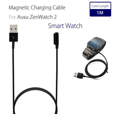 USB Magnetic Charging Cable Cord Charger For ASUS ZenWatch 2 2nd Smart Watch 1M