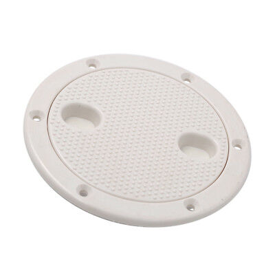 """Marine White Plastic Deck Plate 4"""" Waterproof Inspection Screw Type for Boat"""