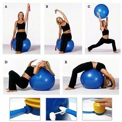 Physio balance yoga fitness gym exercise aerobic ball inflatable with pump 75cm