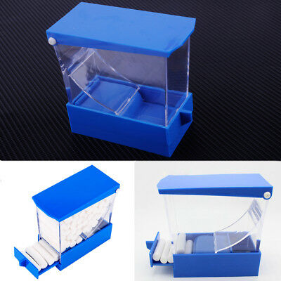 Dental Cotton Roll Holder and Dispenser Drawer Type Blue& Clear Color Free Ship