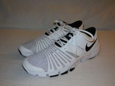 fbb46b2a4e16 NIKE Flex Show TR5 Training Shoes White Black 844401-100 MENS SIZE 11.5