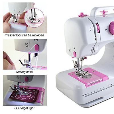 Desktop Sewing Machine Electric Household Tailor 12 Stitches 2 Speed Foot Pedal#