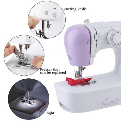 Portable Desktop Mini Electric Sewing Machine Hand Held Household Tailor 2Speed#