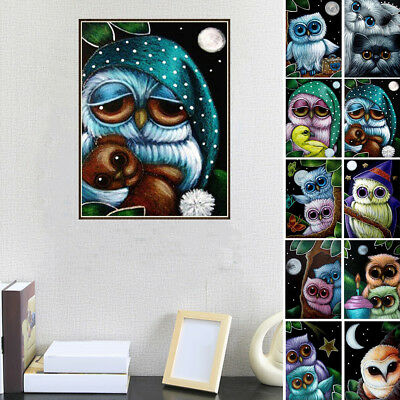 Full Drill Diy 5D Diamond Embroidery Painting Owl Pattern Cross Stitch Opulent