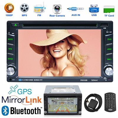 "6,2"" 2DIN Autoradio Bluetooth GPS Navi RDS DVD MP5 Player TouchScreen FM/AM SWC"