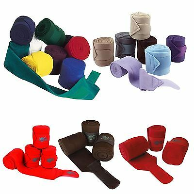 Jumptec Equestrian Double Sided Self Gripping Strap Set Of Four Polo Bandages